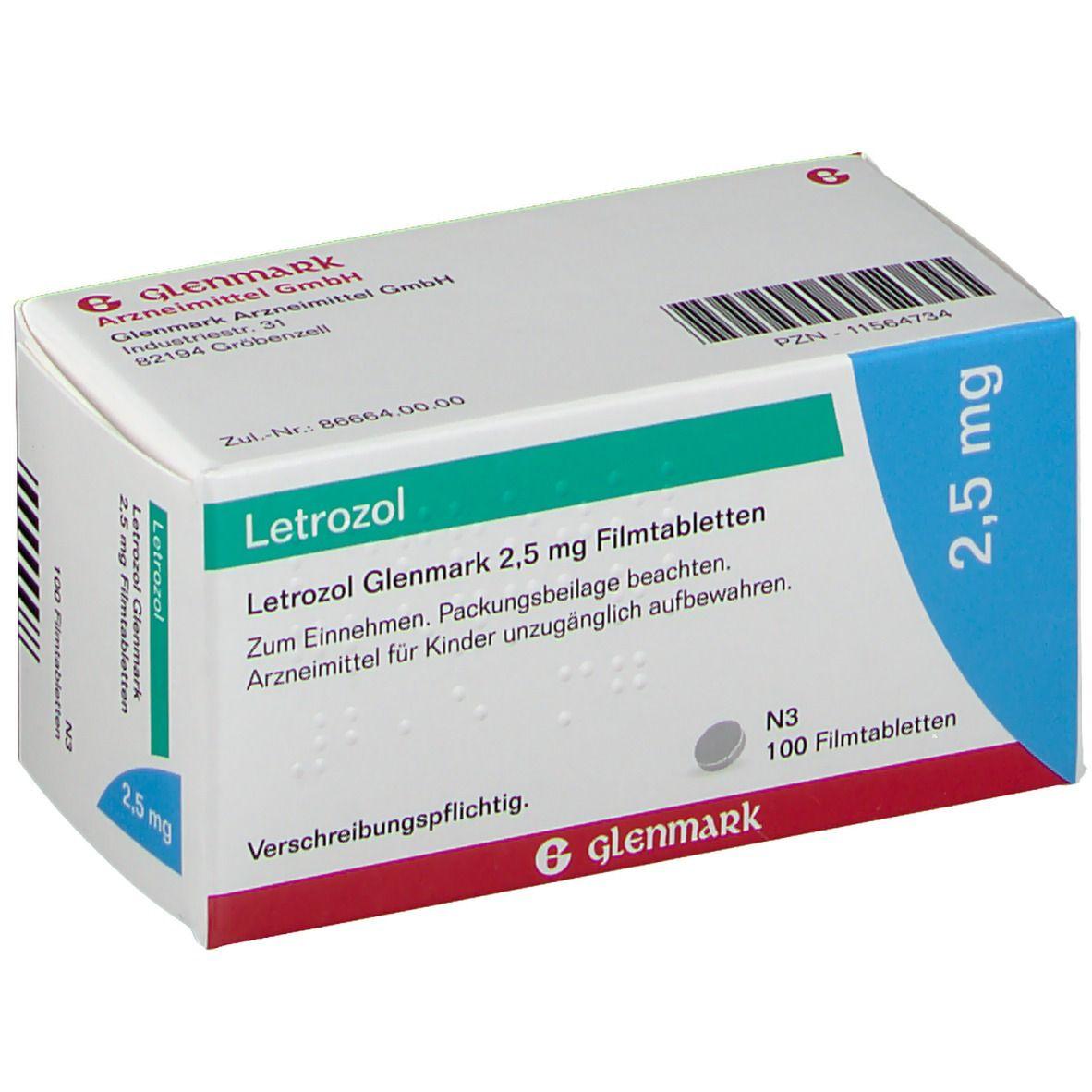 LETROZOL Glenmark 25 mg Filmtabletten 100 St - shop ...