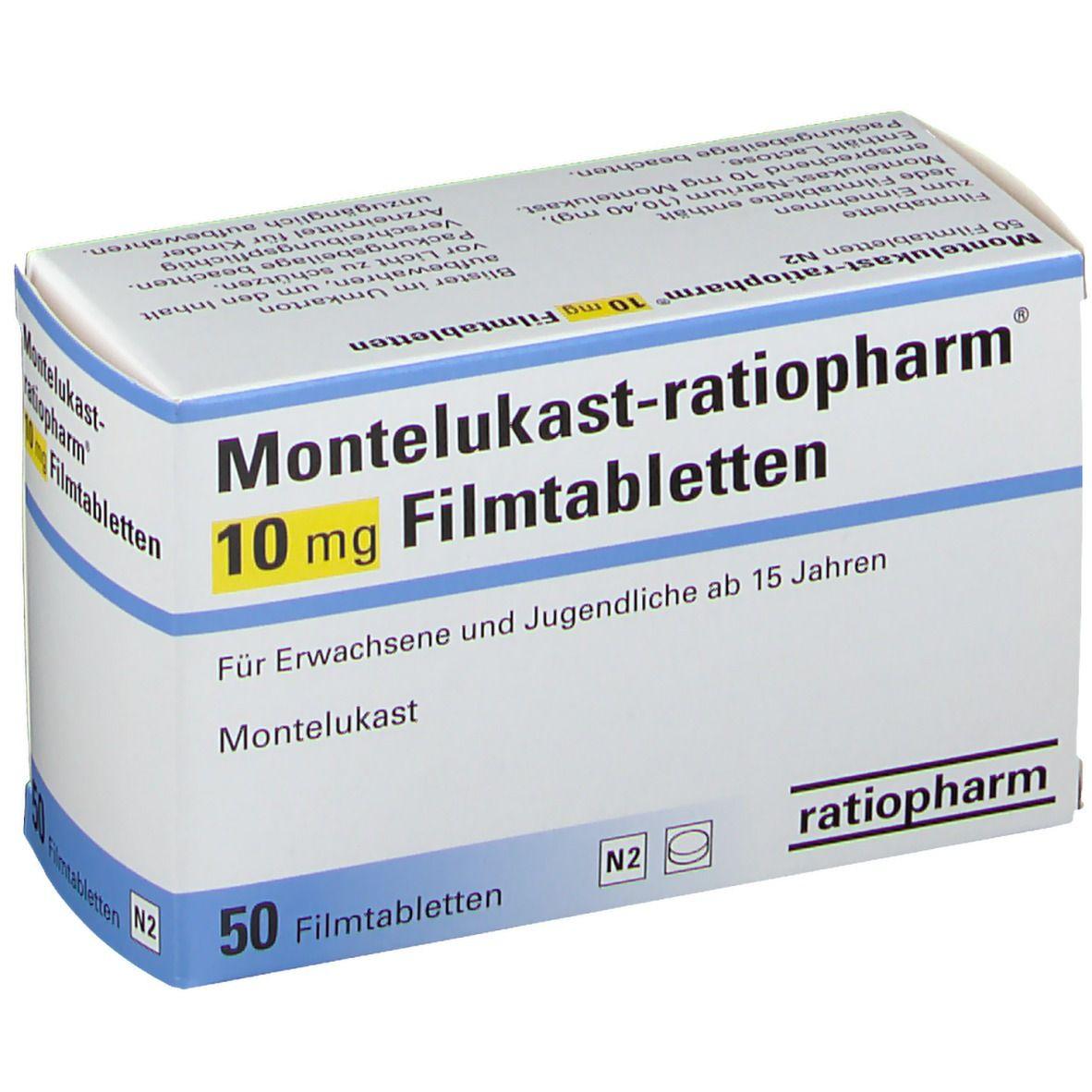 MONTELUKAST ratiopharm® 10 mg 50 St - shop-apotheke.com