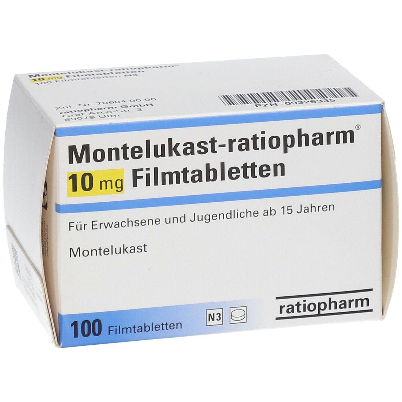 MONTELUKAST ratiopharm® 10 mg 100 St - shop-apotheke.com