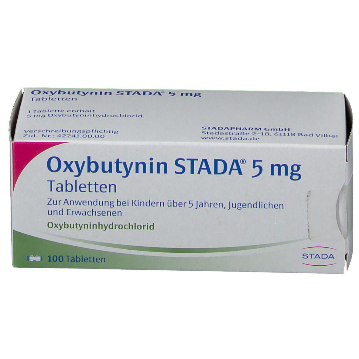 Oxybutynin Stada® 5 mg Tabletten 100 St - shop-apotheke.com