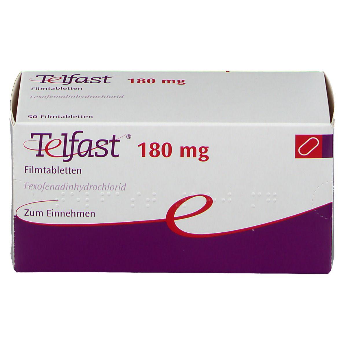 Telfast 180 mg Filmtabletten 50 St - shop-apotheke.com