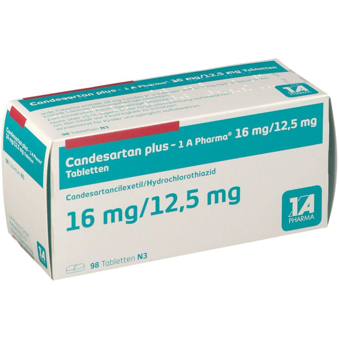 CANDESARTAN plus 1A Pharma 16 mg/125 mg Tabletten 98 St ...