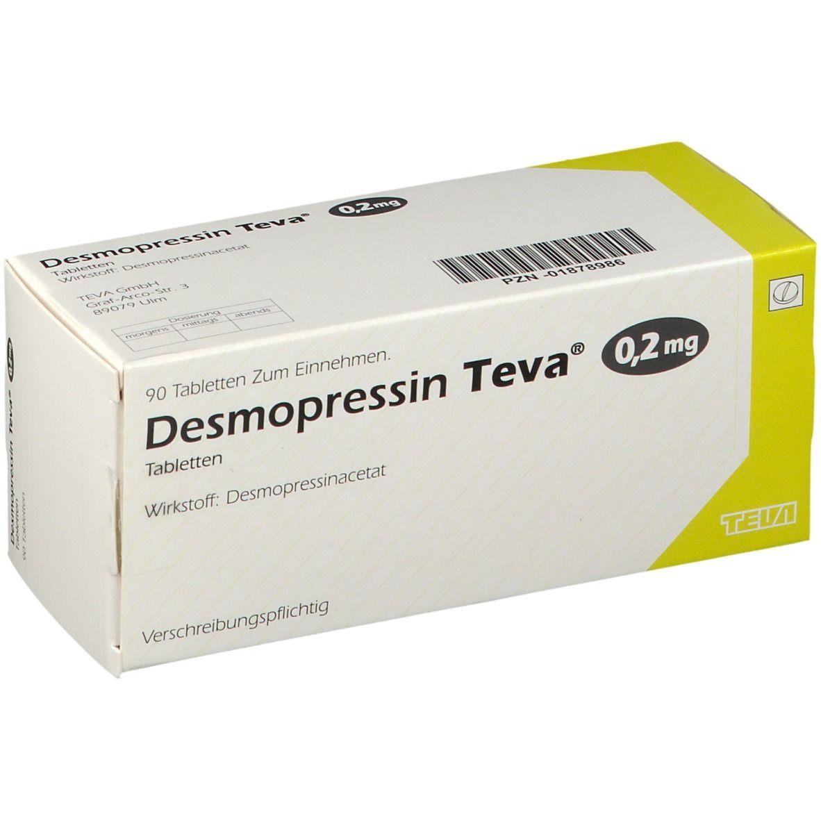 DESMOPRESSIN Teva 02 mg Tabletten 90 St - shop-apotheke.com