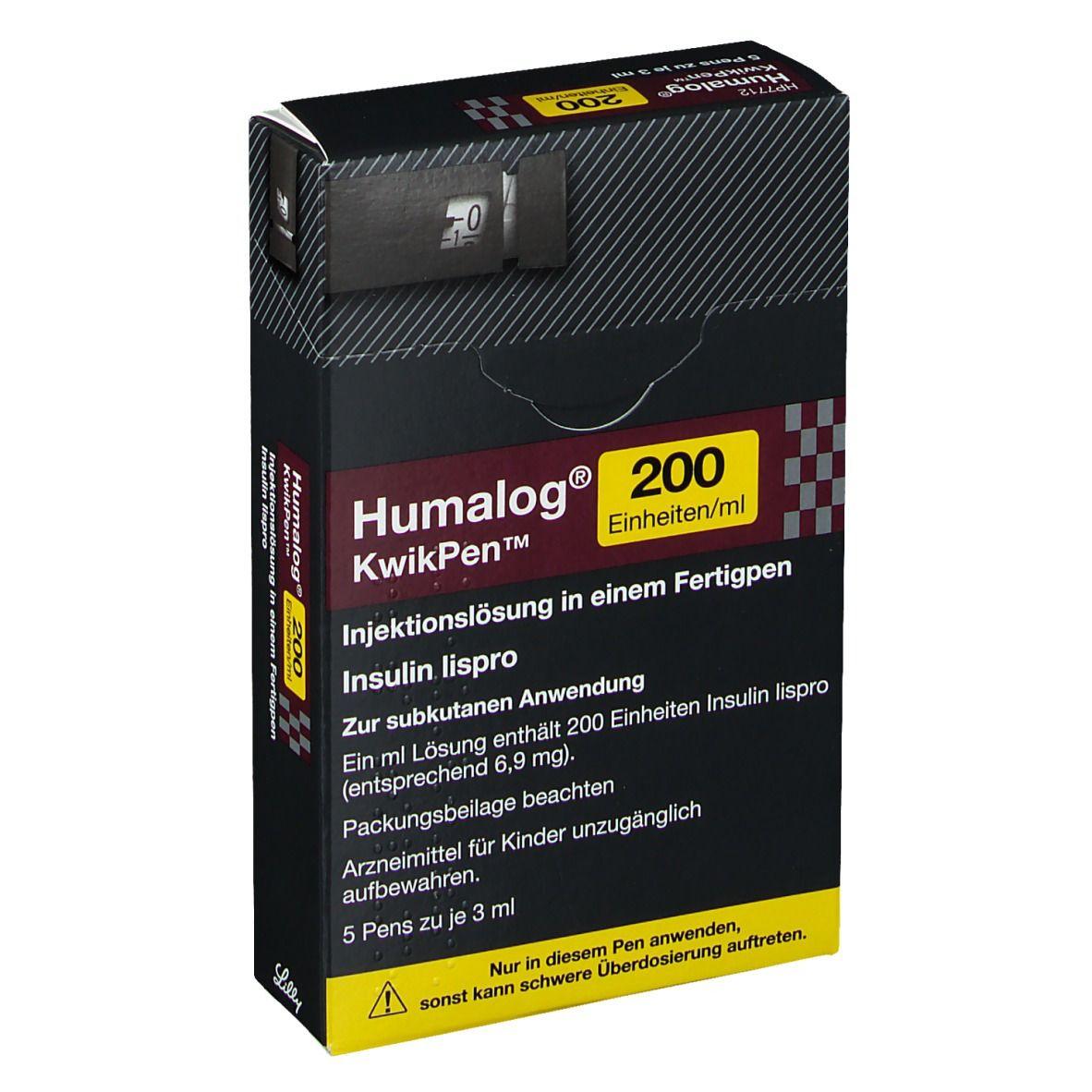 HUMALOG 200 E/ml KwikPen Injektionslösung 5X3 ml - shop ...