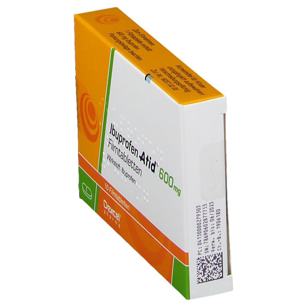 IBUPROFEN Atid 600 mg Filmtabletten 10 St - shop-apotheke.com