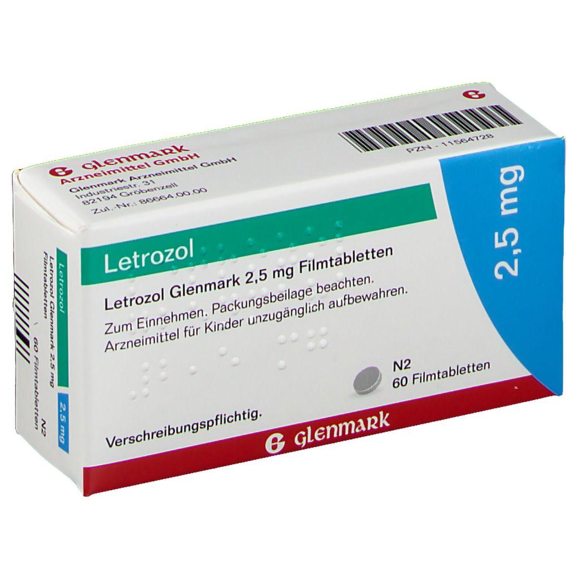 LETROZOL Glenmark 25 mg Filmtabletten 60 St - shop ...