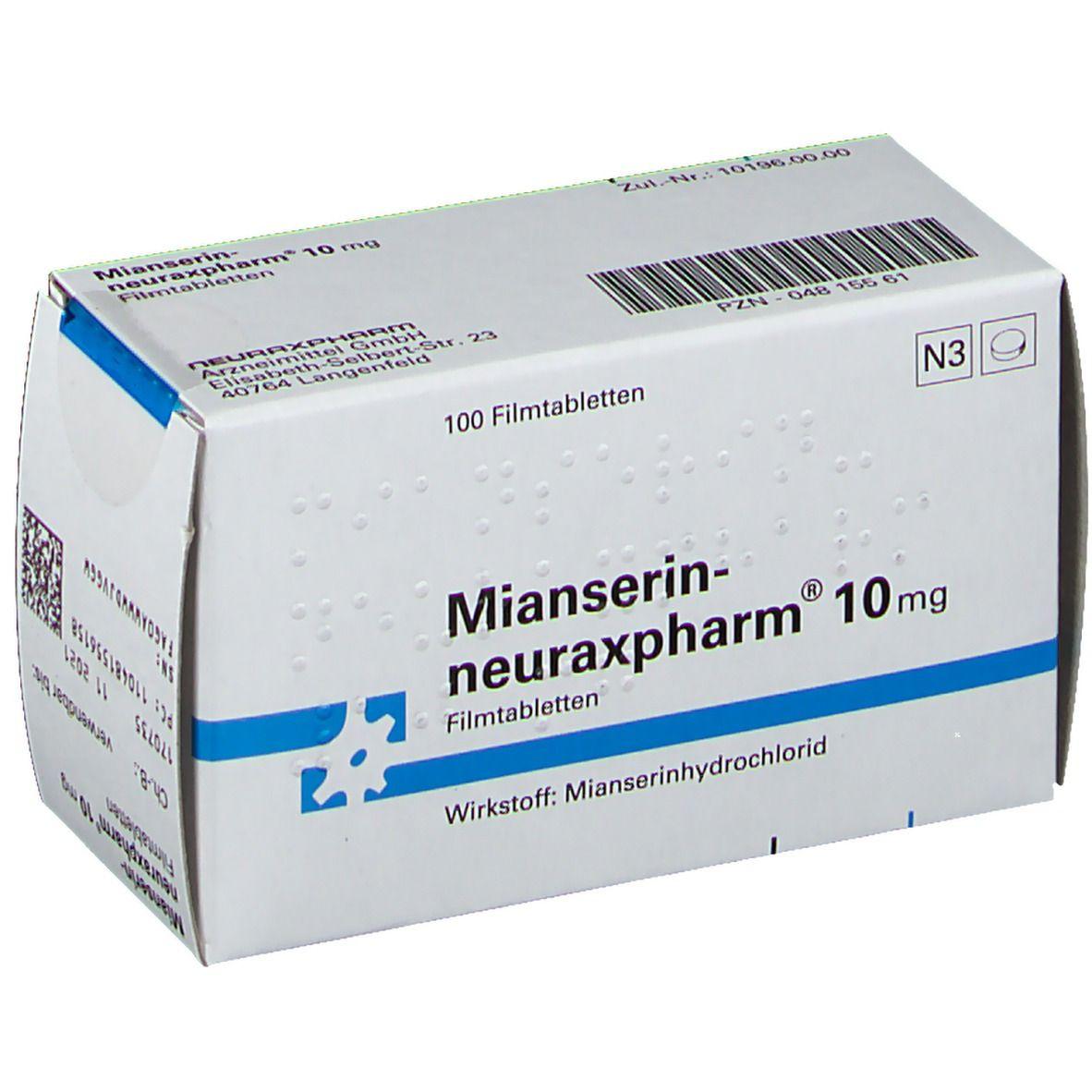 Mianserin-neuraxpharm® 10 mg 100 St - shop-apotheke.com