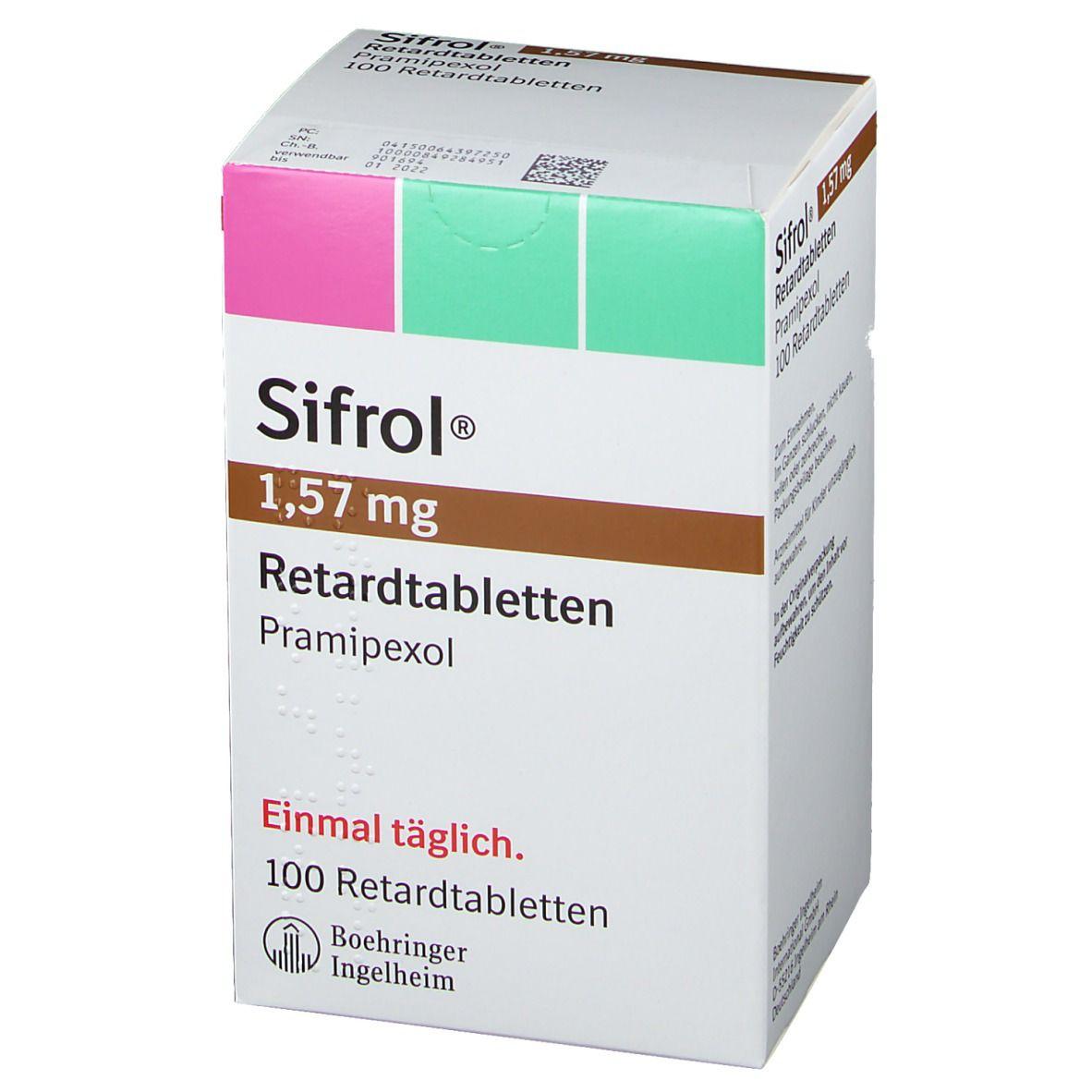 Sifrol 157 mg Retardtabletten 100 St - shop-apotheke.com