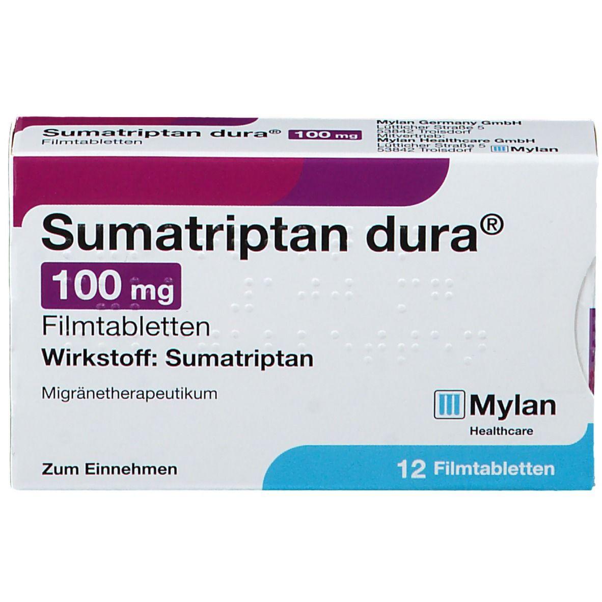 Sumatriptan dura® 100 mg 12 St - shop-apotheke.com