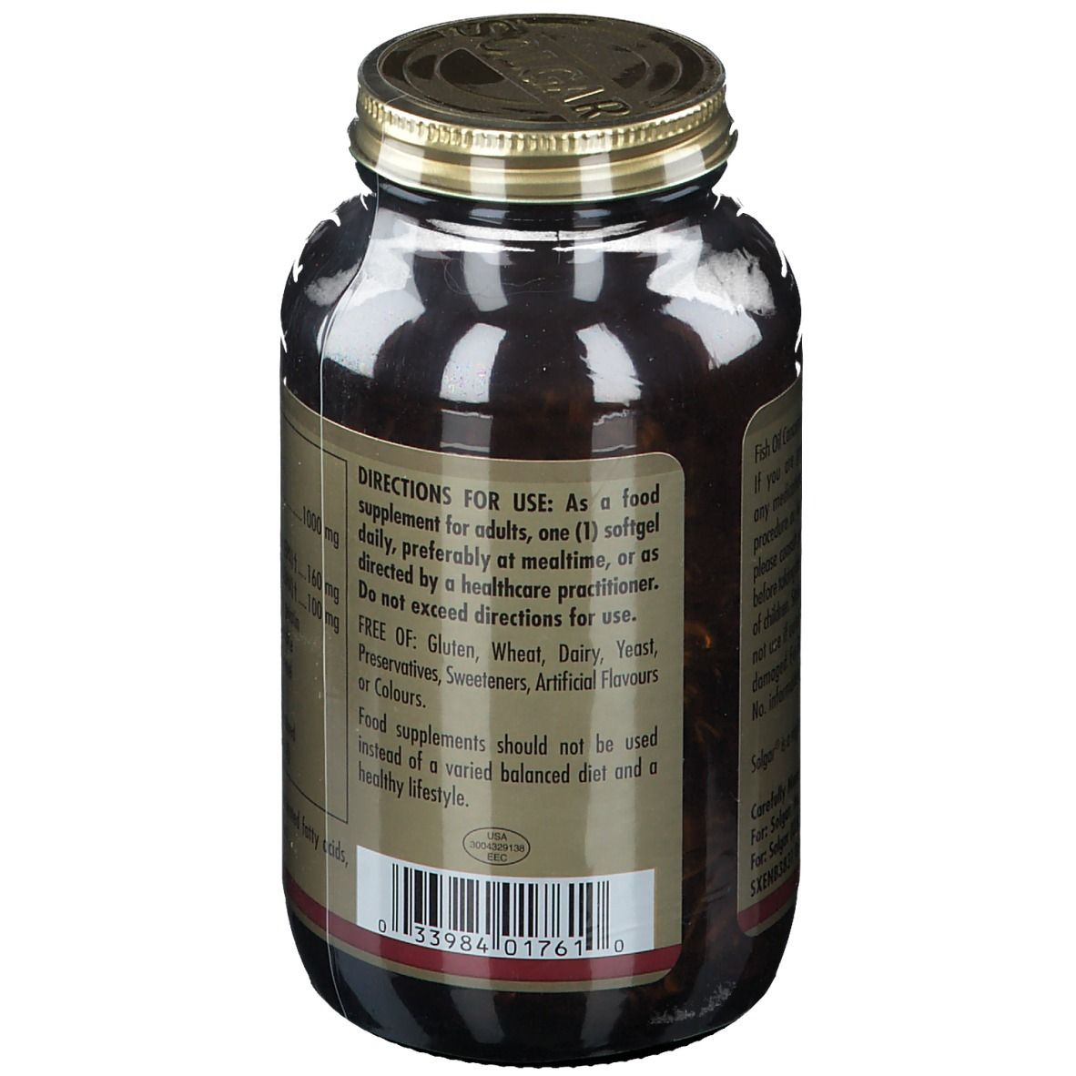 Solgar Fish Oil Concentrate 1000 mg - shop-pharmacie.fr