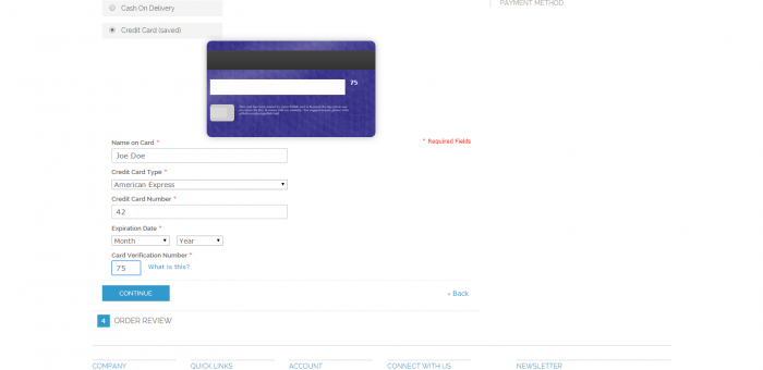 Better Credit Card form for Magento eCommerce checkout