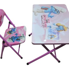 Folding Chair Flipkart Design In Bangladesh Kids Foldable Study Table And The Smurfs Pink
