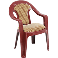 Plastic Cushioned Chair Brown In India