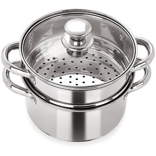 steamer kitchen places to buy tables pristine multipurpose induction base 2 tier with glass lid 18 cm
