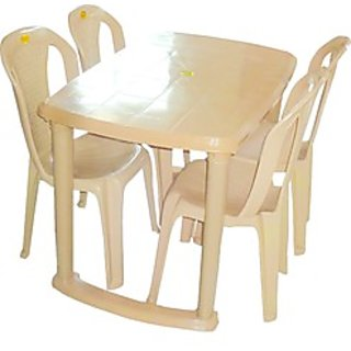 kitchen table chairs set delta faucet cartridge buy plastic dining with 4 chair online get 44 off