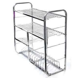metal kitchen rack how to make cabinet doors buy sapphire stainless steel online get 44 off