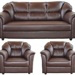 Manhattan Five Seater Sofa Set 3 1 Brown Modern Sets Photos - Buy 5 Seaters Sofas Online In ...