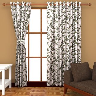 Ab Home Decor Polyester Door Curtains Set Of 2 7 Feet X 4 Feet