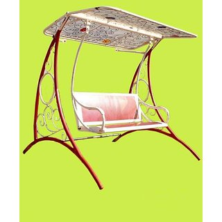 steel chair jhula exercise ball reviews buy fancy thread garden swings jhoola online 26000 from shopclues