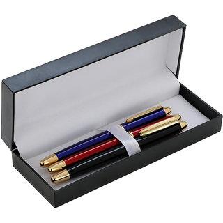 P-278 Dikawen 889 Black, Blue Red Contemporary Roller Ball Pen