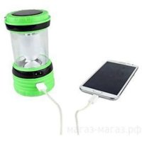 YH 6 led White Light Solar AC Powered Rechargeable Camping ...