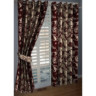 AB Home Decor Polyester Window Curtains Set Of 2 5 Feet X 4 Feet
