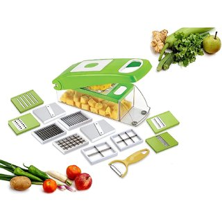 kitchen mandoline cabinets colors 12 piece dicer grater chopper green