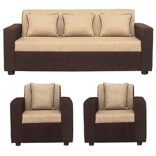 color sofa leather recliners sofas buy gioteak sofia 5 seater set in cream brown acacia wood