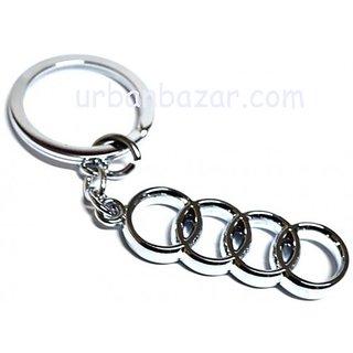 AUDI Stylish Key Chain metallic keychain car bike, key