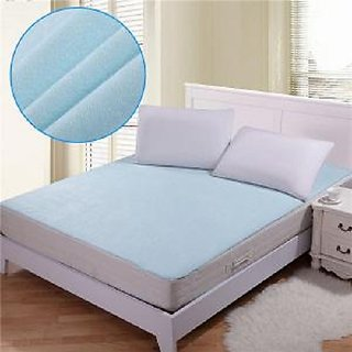 K Decor Waterproof Non Wooven Double Mattress Protector Sheet With Elastic Straps