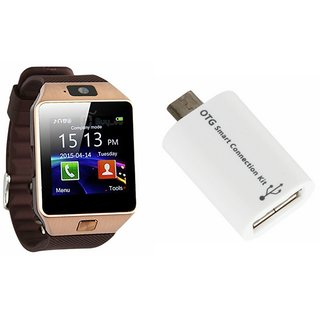 Buy Mirza DZ09 Smart Watch and Smart OTG for HTC ONE MAX(DZ09 Smart Watch With 4G Sim Card. Memory Card| Smart OTG) Online - Get 73% Off