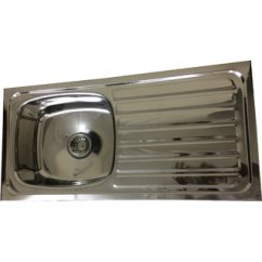 Kitchen Sinks With Drain Boards Faucet Aerator Buy Mlpk Sink Single Bowl Board 37x18x8 Inches