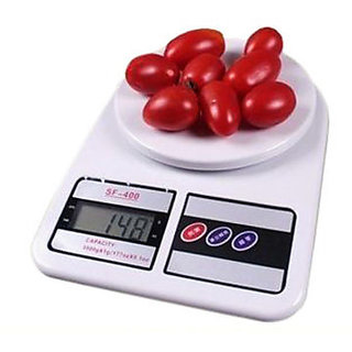 kitchen weight scale cushioned floor mats buy electronic digital lcd accurat weighing machine sf 400 new online shopclues com