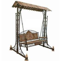 Steel Chair Jhula Danish Teak Dining Chairs Buy Shilpi Iron Wooden Swings Jhoola For Home Garden Floor Standing Online Get 12 Off