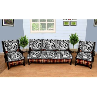 latest design sofa covers affordable sleeper buy manvi creations floral black silver cover