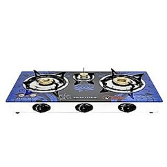 Kitchen Stove Gas Best Way To Refinish Cabinets Buy Surya Crystal Automatic 3 Burner Cooktop Online Get 70 Off