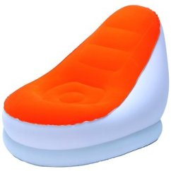 Beanless Sofa Air Chair Furniture Canada Buy Comfort Quest Inflatable Bag Orange Color 75053or