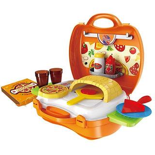 Smartcraft Kids Bring Along Pizza Oven Suitcase Set - 22 Pieces