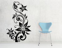 Decor Kafe Abstract Floral Wall Decal -(Large) at Best ...