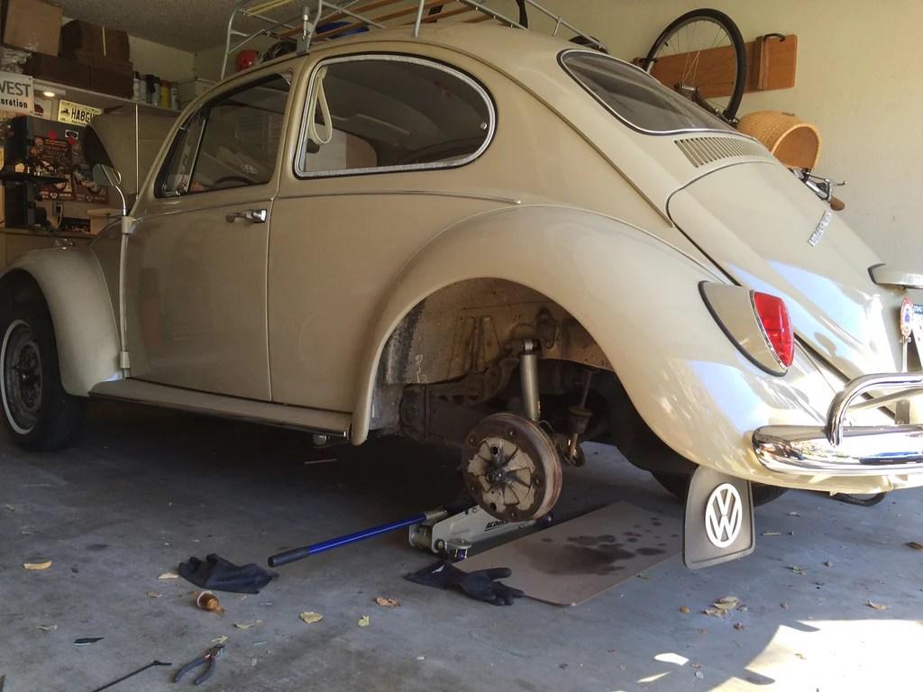 hight resolution of fuel filter installation on a vintage volkswagen
