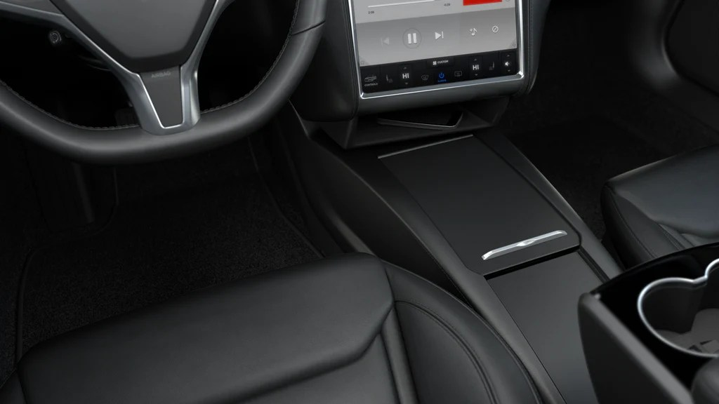Car In Space Wallpaper Elon Musk Tesla Model S Integrated Center Console