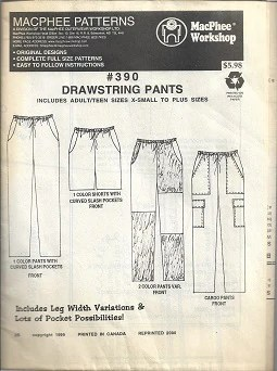 Draw String Pants Pattern : string, pants, pattern, Drawstring, Pants, Pattern, MacPhee, Patterns, Crafts, Never, Cease