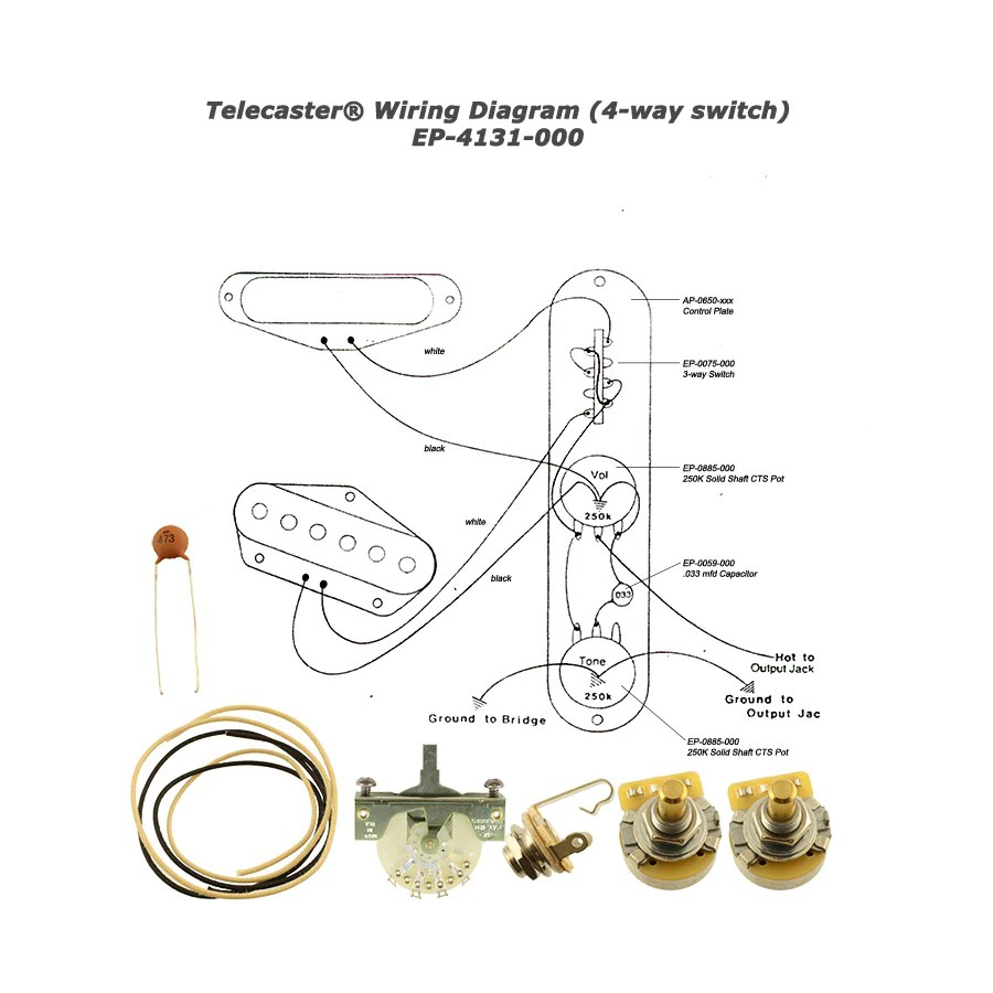medium resolution of wiring kit for telecaster 4 way switch