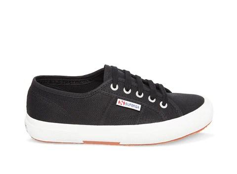 Womens Black Slide On Sneakers