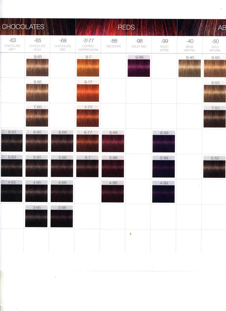 Schwarzkopf Igora Royal Hair Color Chart Zieview
