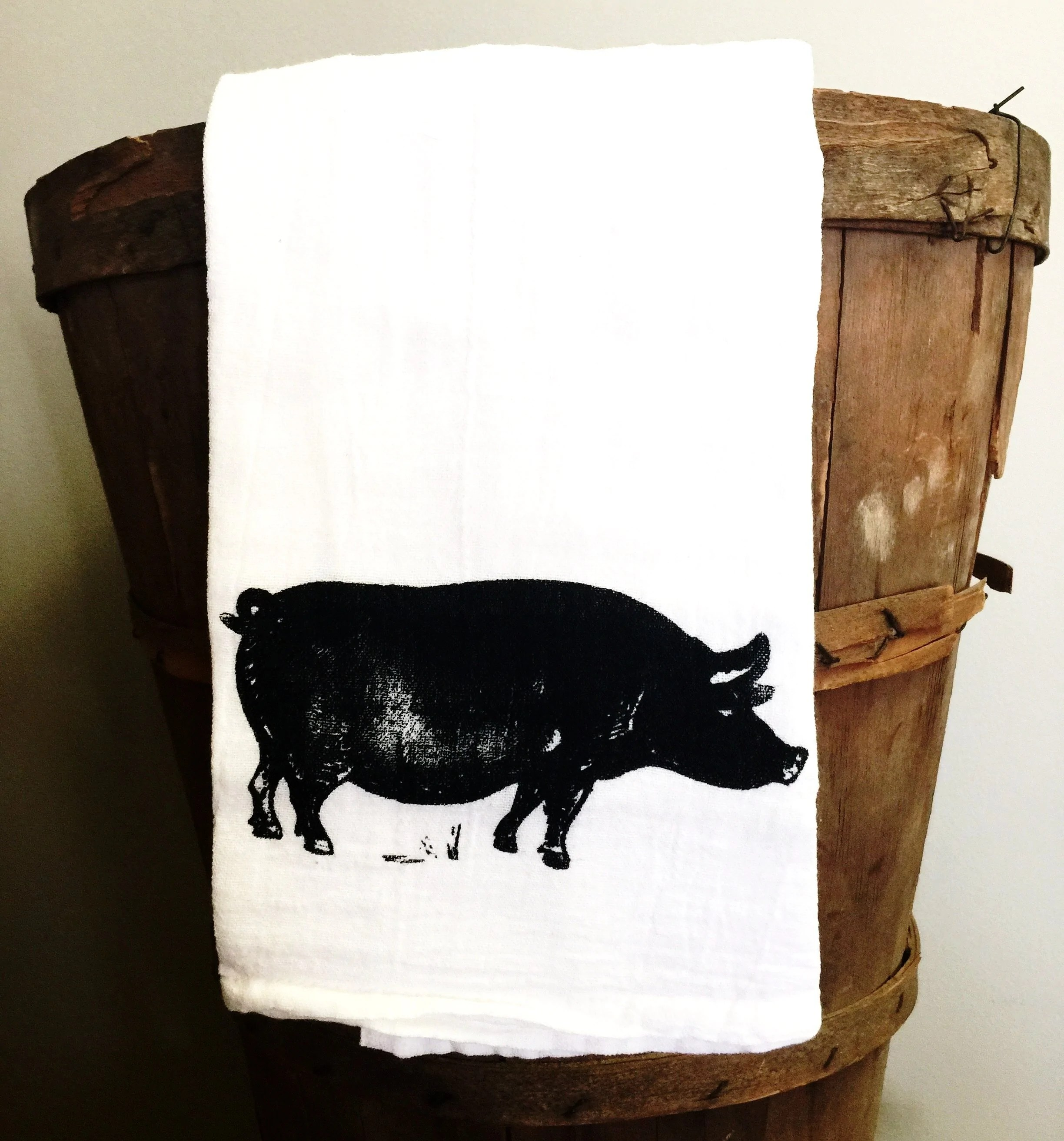 pig kitchen drop in sinks simple towel anne s country cottage