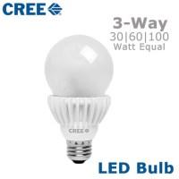 CREE LED 3-Way Light Bulb Three Way Switched Bulb ...