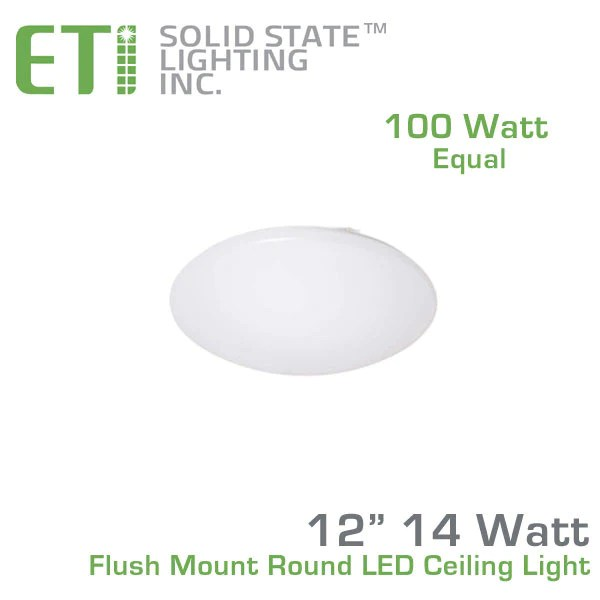 ETI 12 Inch Flush Mount Round LED Ceiling Light  54074143