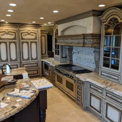 Kitchen Cabinet Set Maple Island Gigantic Like New Frameless Glazed Distressed Antiqued W Glass Doors And
