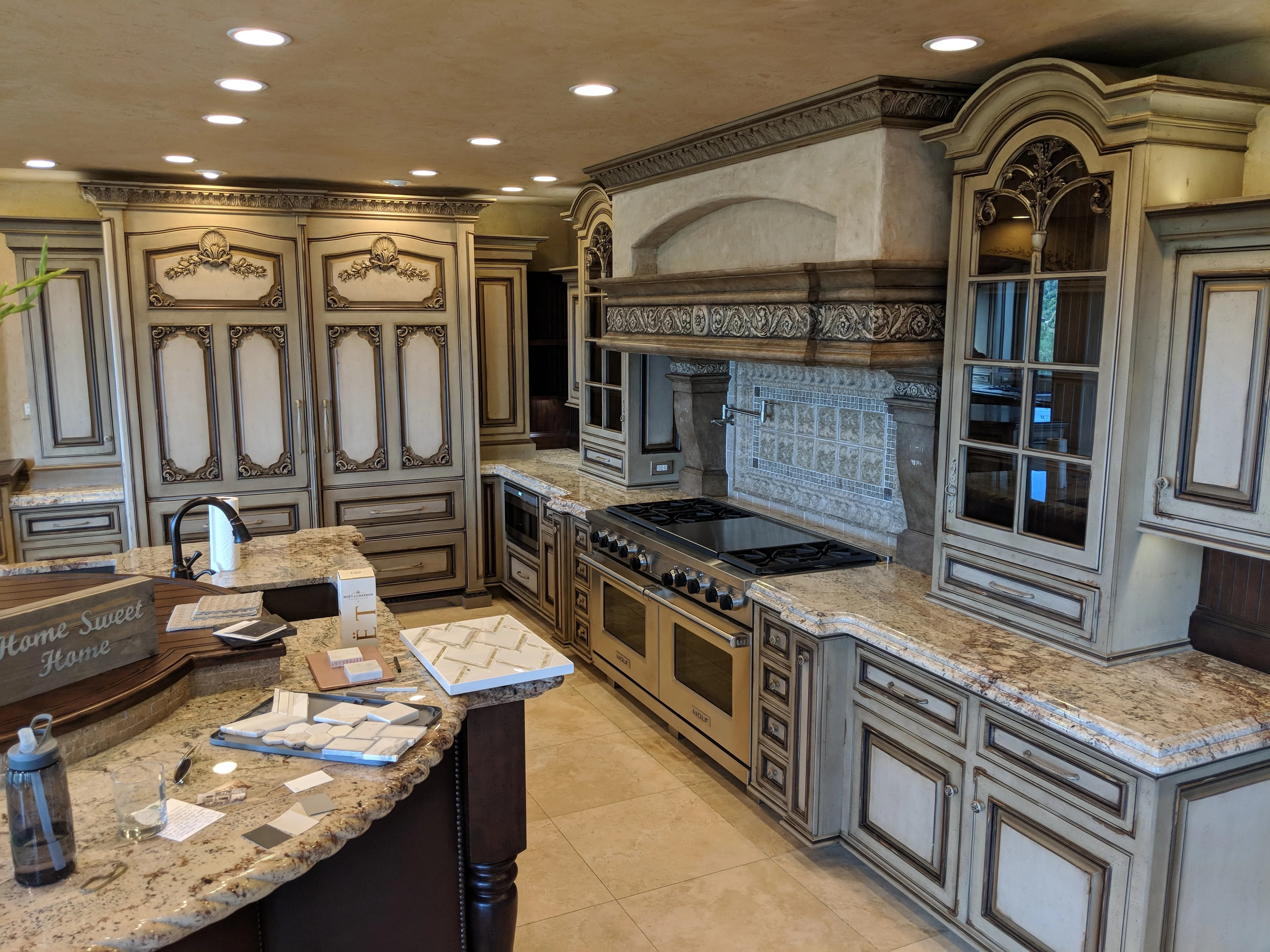 antiqued kitchen cabinets storage free standing gigantic like new frameless glazed distressed cabinet ben s repurposed cabinetry